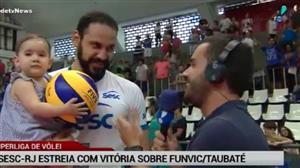 Superliga: Sesc-RJ estreia com vitória sobre o Funvic/Taubaté