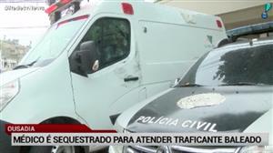 Médico é sequestrado no Rio para atender traficante baleado