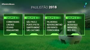Paulistão 2018 sorteia grupos; cartolas comentam possíveis reforços