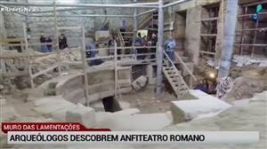 Arqueólogos israelenses descobrem anfiteatro romano