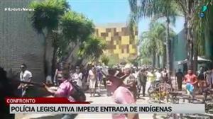 Polícia Legislativa impede entrada de indígenas na Câmara