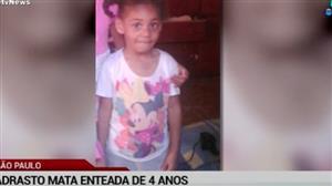 Padrasto mata enteada de 4 anos em SP