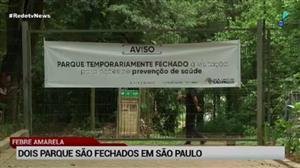 Por risco de febre amarela, dois parques são fechados em São Paulo