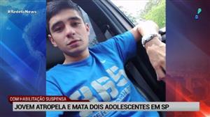 Jovem atropela e mata dois adolescentes em São Paulo