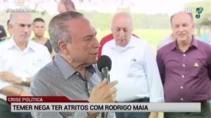Em evento, Temer nega qualquer atrito com Rodrigo Maia