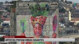 Artistas pintam obras gigantes em Belo Horizonte