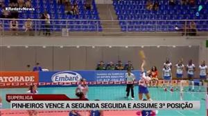 Pinheiros bate Camponesa/Minas e assume terceiro lugar da Superliga