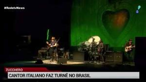 Cantor italiano Zucchero faz turnê pelo Brasil