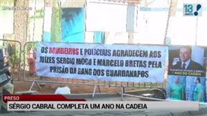 Prisão de Sérgio Cabral completa 1 ano