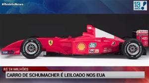 Carro de Schumacher é leiloado nos EUA