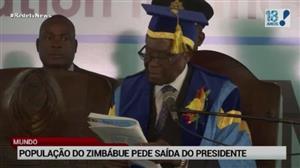 População do Zimbábue pede saída do presidente