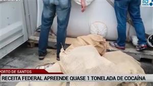 Receita apreende quase 1 tonelada de cocaína no porto de Santos