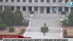 Vídeos mostram soldado da Coreia do Norte fugindo do país