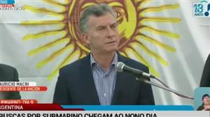Macri admite que não tem informações sobre submarino