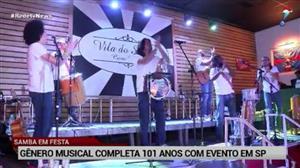 Samba faz aniversário e completa 101 anos de alegria
