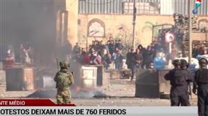 Protestos palestinos deixam mais de 760 feridos