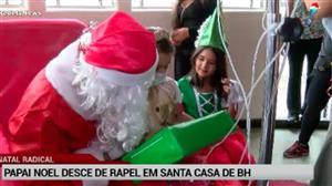 Papai Noel faz a festa das crianças da Santa Casa de Belo Horizonte