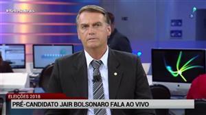 """""""Estou torcendo para que Lula seja condenado"""", diz Jair Bolsonaro"""