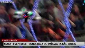"""Com """"guerra de drones"""", Campus Party agita São Paulo"""