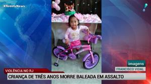 Criança de 3 anos morre em tiroteio no Rio de Janeiro