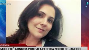 Outro caso! Mulher é atingida por bala perdida no Rio de Janeiro