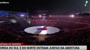 Coreias do Sul e do Norte fazem história nos Jogos de Inverno