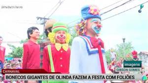 Bonecos de Olinda fazem a festa dos foliões