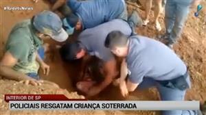 Menina de 9 anos é resgatada após ficar soterrada em SP