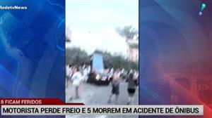 Motorista perde freio e cinco morrem em acidente de ônibus em Minas Gerais