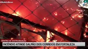 Incêndio atinge galpão dos Correios no Ceará