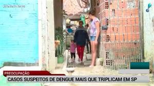 Após febre amarela, casos de dengue mais que triplicam em São Paulo