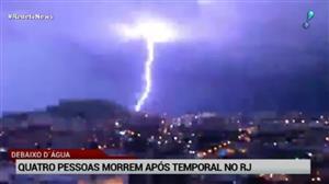 Quatro pessoas morrem após temporal no Rio de Janeiro