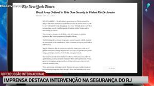 Intervenção no Rio ganha destaque na imprensa internacional