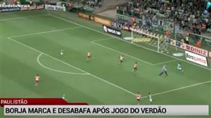 Borja marca 2 gols, mas Palmeiras só empata com o Linense em casa