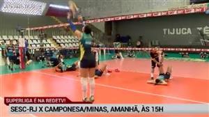 RedeTV! transmite neste sábado (17) Sesc-RJ x Camponesa/Minas