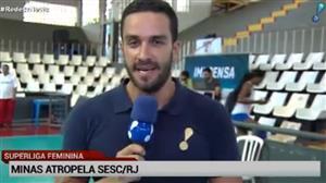 Camponesa/Minas vence Sesc RJ por 3 a 0 na Superliga