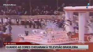Primeira transmissão de TV a cores completa 46 anos