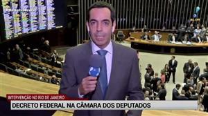 Câmara atinge quórum mínimo para votação da intervenção no Rio