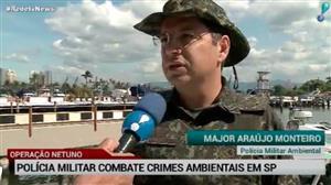 RedeTV News acompanha ação de combate ao crime ambiental em SP
