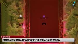 Marca italiana inova e usa drone para apresentar coleção de bolsas