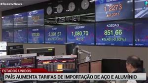 Mercados reagem mal ao anúncio de Trump sobre aumento de tarifas