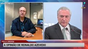 Escalada de Barroso contra Temer foge da Constituição, diz Reinaldo Azevedo