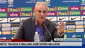 Tite surpreende e convoca Neto, Talisca e Willian José