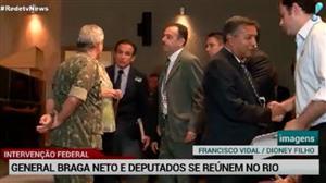 General Braga Netto e deputados se reúnem no Rio para tratar da intervenção