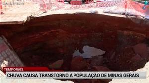 Fortes chuvas causam transtornos à população de Minas Gerais