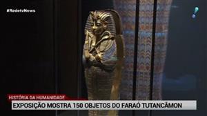 Exposição mostra 150 objetos do Faraó Tutancâmon