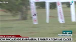 Em Brasília, corrida de drones atrai a atenção de todas as idades
