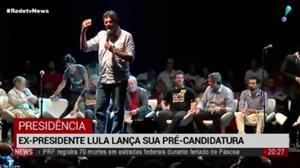 Ex-presidente Lula lança sua pré-candidatura