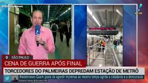 Torcedores do Palmeiras depredam estação Barra Funda do metrô