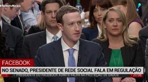 No senado, presidente do Facebook fala em regulamentação